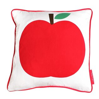 White Apple Cushion