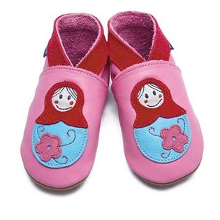 Baboushka Baby Shoes - Rose Pink