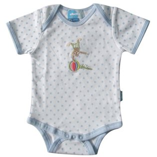 Star Print Monkey Applique Romper