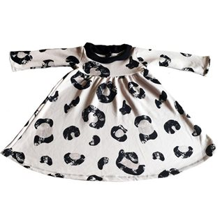 Petal Collar Dress Cheetah