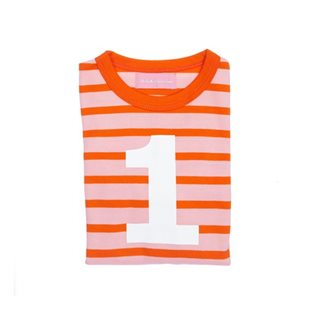 Breton Striped Pink & Orange Top With Age