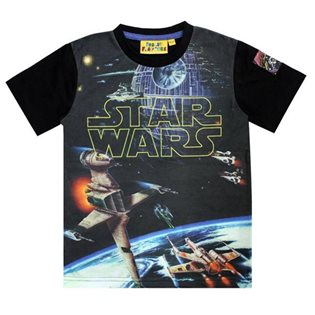 Star Wars Logo Spacescape T-Shirt
