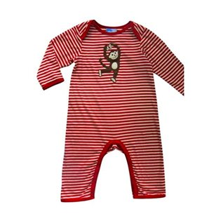 Dancing Monkey Playsuit - Red