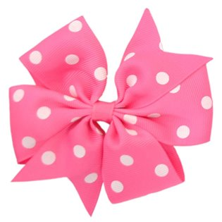 Pinwheel Bow - Hot Pink Polka Dot