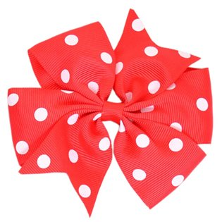 Pinwheel Bow - Red Polka Dot