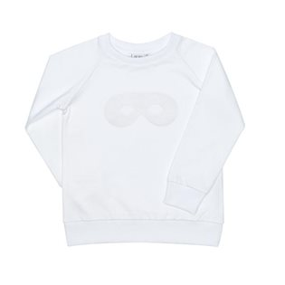 Beau Loves Raglan Jumper - White Flock Mask