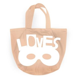 Beau Loves Canvas Tote Bag - Voyage Travel Mask White