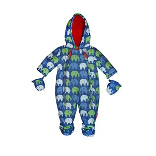 Baby Snowsuit Blue Elephant