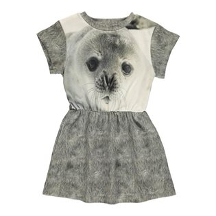 Robbies Dress - Seal Print