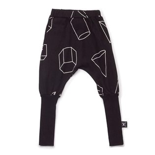 Nununu Geometric Donkey Pants - Black