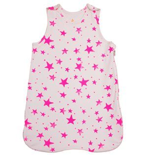 Noe & Zoe Baby Sleeping Bag - Pink Stars - Summer 1.5 Tog