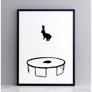 Bouncing Rabbit Screen Print