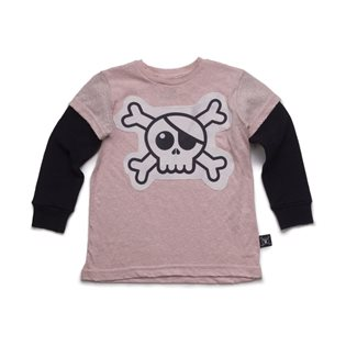 Nununu Skull Patch T-Shirt - Powder Pink