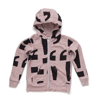 Nununu Punctuation Zip Hoodie - Powder Pink
