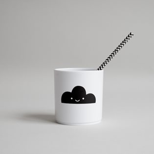 Happy Clouds Tumbler - White