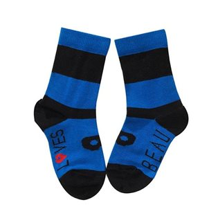 Beau Loves Maxi Stripe Ankle Socks - Black / Blue