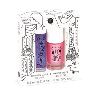 Nailmatic Duo Kids Lovely City - Blackcurrant/Kitty