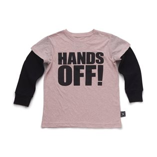 Nununu Hands Off! T-Shirt - Powder Pink