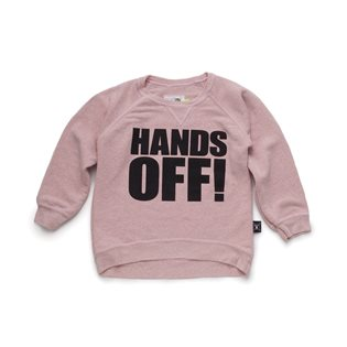 Nununu Hands Off! Pullover - Powder Pink