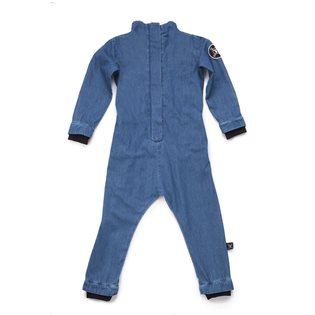 Nununu Cotton Aviator Overall - Denim