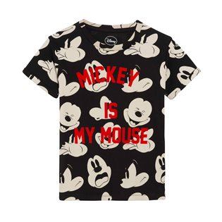 Mickel - Mickey Mouse Black Tee