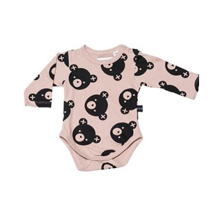 Falling Bears Long Sleeve Onesie