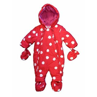 Baby Snowsuit - Red Spot