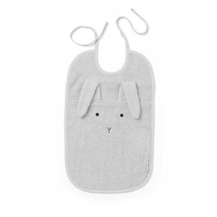 Theo Bib - Rabbit - Dumbo Grey