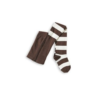 Mini Rodini Stripe Tights - Brown