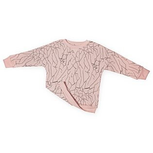 Cracked Wall Loose Sweater - Cameo Rose