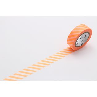 MT Washi Masking Tape - Stripe Shocking Orange