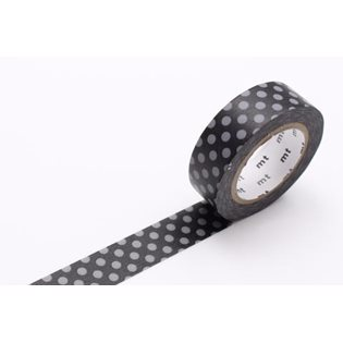MT Washi Masking Tape - Dot Black & Grey