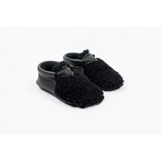 Amy & Ivor Yeti Moccasin - Black