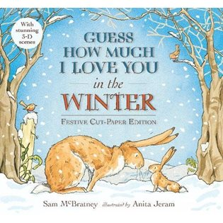 Guess How much I Love You In The Winter - Festive Paper Cut Book