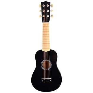 Toy Guitar - 6 Strings - Black