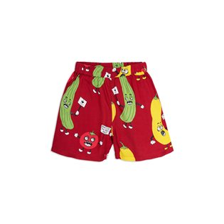 Veggie Woven Shorts - Red