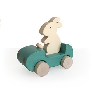 Bunny Car Turquoise