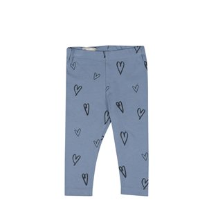Hearts AOP Baby Leggings - Faded Denim