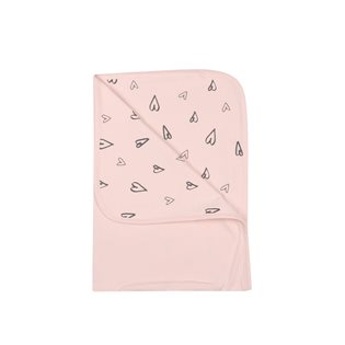 Heart Blanket - Soft Pink