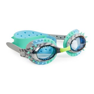 Prehistoric Times Swimming Goggles - Raptor Blue Grey