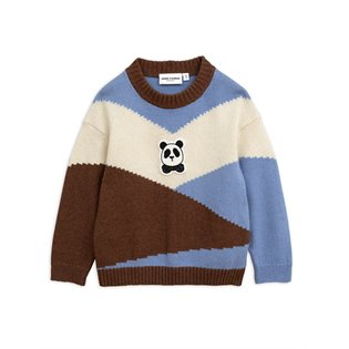 Panda Knitted Wool Pullover - Brown