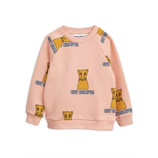 Cat Campus Sweatshirt - Pink