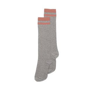 Knee Sock - Grey - Raspberry