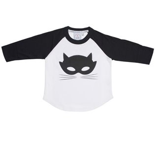 Super Charged Raglan Long Sleeve Tee - Cat Mask