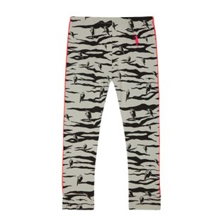 Chill Out Leggings - Grey Lucky Tiger With Neon Piping