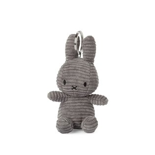 Miffy Corduroy Grey Keyring