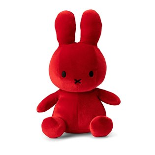 Miffy Sitting Velvet - Candy Red