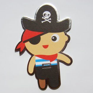 Pirate - Cute Cuts Card