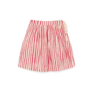 Bamboo Striped Mini Skirt