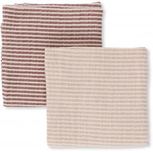 2 Pack Muslin Cloths Striped - Girl
